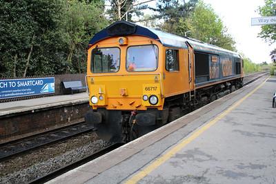 66717 1500/6D02 Wellingboro-Mountsorrell passing Long Eaton.