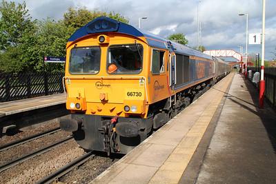 66730 1646/4n30 Drax-Tyne Dock passing Knottingley.
