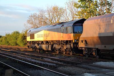 66848 2016/4E43 Ratcliffe-Walsingham passes Hillam Gates.