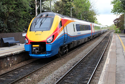 222023 passing Long Eaton on an East Mids service to St.Pancras.