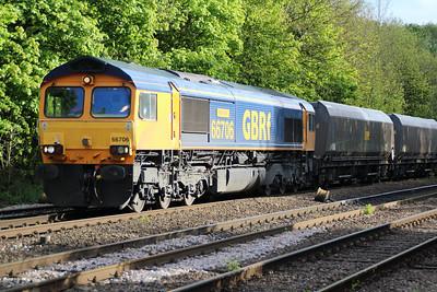 66706 1821/4n14 Doncaster-Tyne Dock passing Hillam Gates.