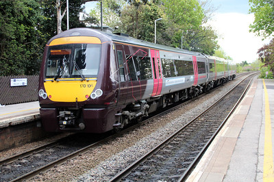 170106 on a Cross Country service at Long Eaton.