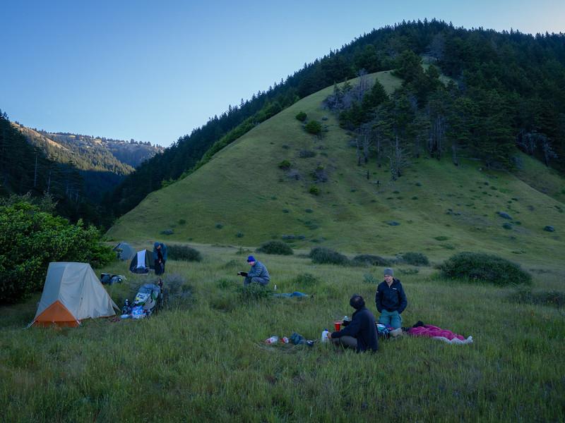 Camp, near Spanish Creek