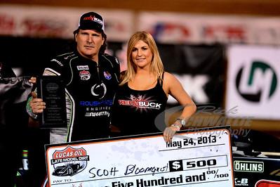 Scott Bloomquist won the Red Buck Fast Time Award