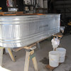 225 GALLON STORAGE TANK TO STORE RAW SAP FROM THE TREES UNTIL WE CAN COOK IT DOWN TO SYRUP