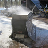 HERE'S OUR COOKER IN ACTION..HOMEMADE WOODBURNER WITH ABOUT A 70-GALLON BOILING PAN ON TOP