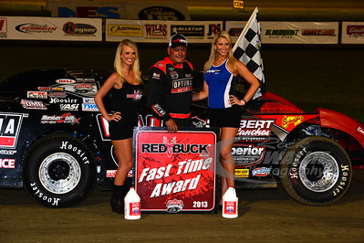 Don O'Neal won the Red Buck Fast Time Award