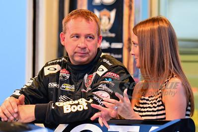 Steve Francis talks with wife Amanda
