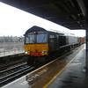 Direct Rail Services (DRS) Class 66 no. 66418 passing Lewisham.