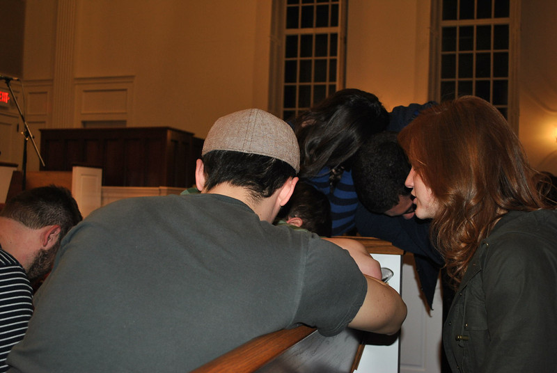 3-1-13: Students gathered Friday night for a worship service in Dover chapel.