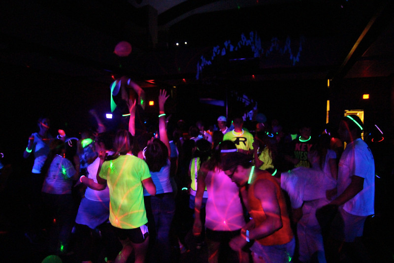 Students ended Human Traficking Awareness Week with the Rave to Save. Students gave back with toiletries and danced in an all neon atmosphere.