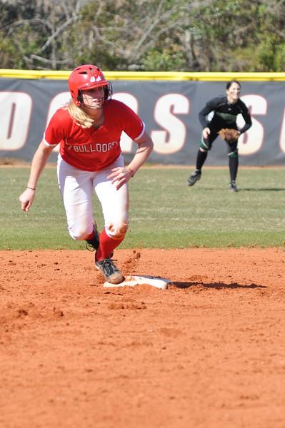 Samantha Meenaghan runs a base against USC Upstate Thursday March 7, 2013.