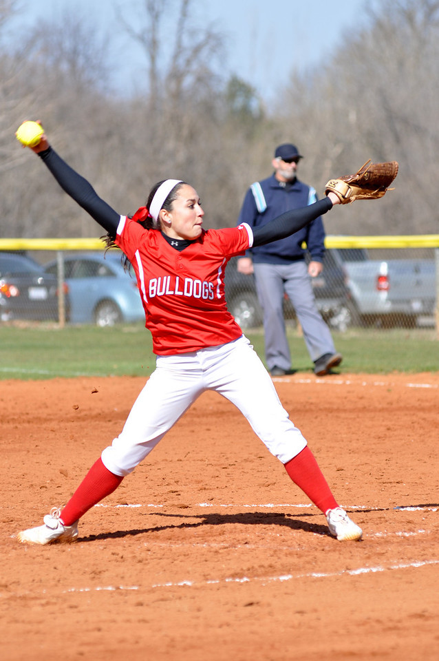 Alyssa Gutierrez throws a pitch against USC Upstate Thursday March 7, 2013.
