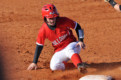 Jill Blank slides into 3rd base as a runner against USC Upstate Thursday March 7, 2013.