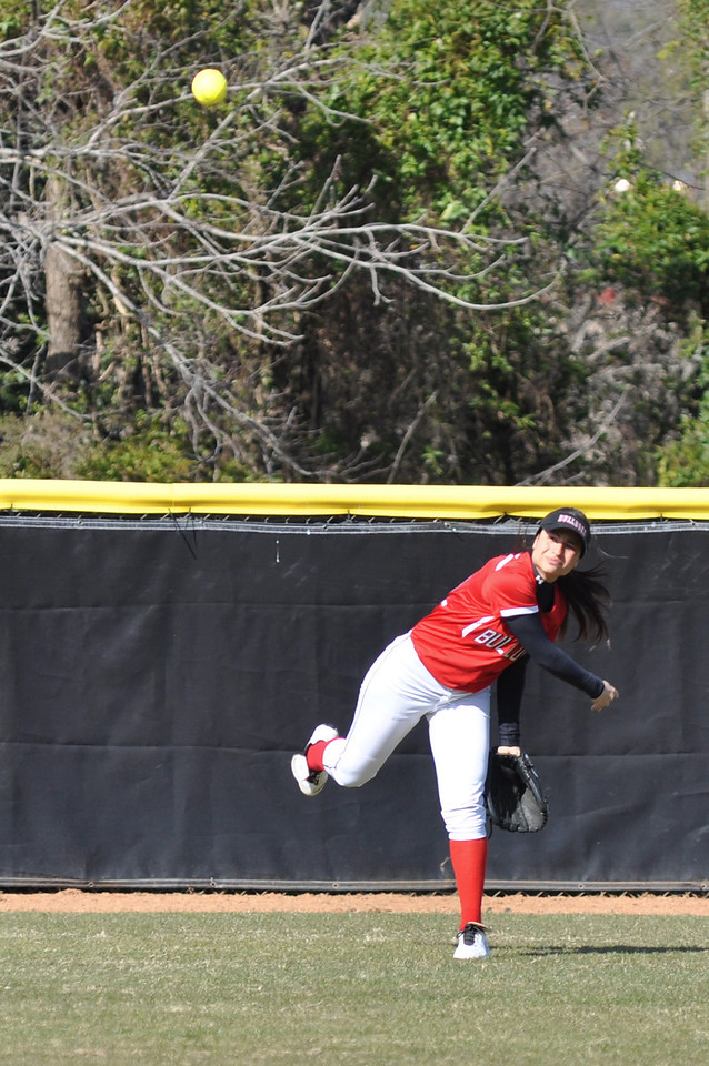 Mariana Gallardo throws in from the field against USC Upstate Thursday March 7, 2013.