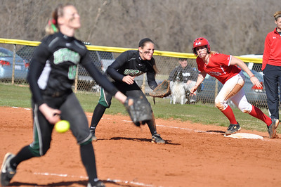 Samantha Meenaghan runs a base against USC Upstate Thursday March 7, 2013.