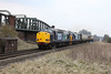 28 March 2013 :: 37607, 37409 along with 20305 & 47790 pass Battledown Flyover with 5Z29 from Crewe to Eastleigh