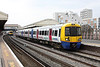 21 March 2013 :: In Lyca Mobile advertising livery, 378221 at Clapham Junction working train 2Y00 the 1201 to Willesden Junction