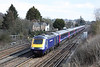 30 March 2013 :: 43183 leads 43012 on the 0859 from Waterloo to Penzance past the Worting cottages