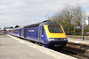 29 March 2013 :: As Reading station was closed First Great Western west country services were routed into Waterloo. Arriving into Basingstoke is 43152 heading 1O39, the 0748 from Plymouth to Waterloo