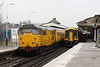 25 March 2013 :: 31465 passing through Basingstoke propelling 3Z04, test train from Eastleigh to Hither Green