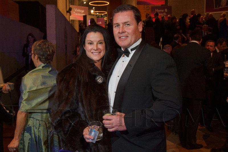 Rochelle and Mike McNaughton.  Saturday Night Alive, benefiting the Denver Center Theatre Company and its Education Department, at the Denver Center for Performing Arts, Seawell Ballroom, in Denver, Colorado, on Saturday, March 2, 2013.<br /> Photo Steve Peterson
