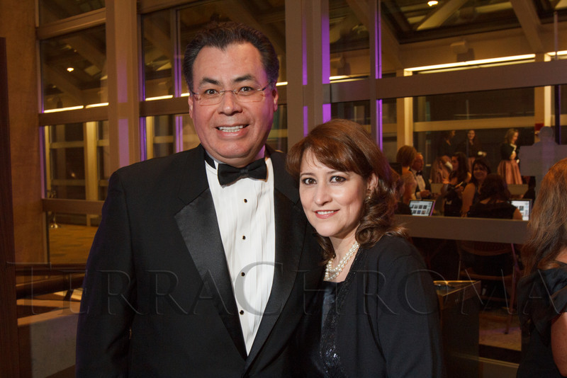 Mario and Irma Carrera.  Saturday Night Alive, benefiting the Denver Center Theatre Company and its Education Department, at the Denver Center for Performing Arts, Seawell Ballroom, in Denver, Colorado, on Saturday, March 2, 2013.<br /> Photo Steve Peterson