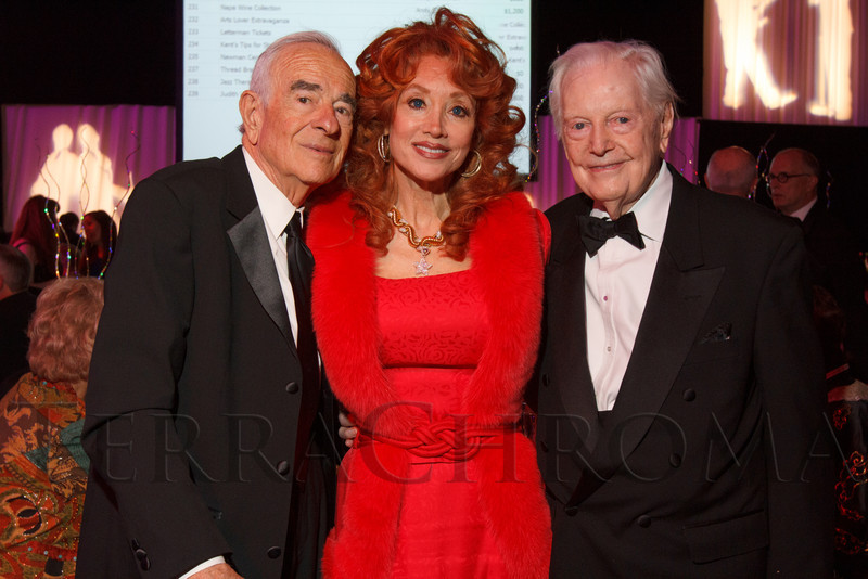 Marvin and Judi Wolf with Donald Seawell.  Saturday Night Alive, benefiting the Denver Center Theatre Company and its Education Department, at the Denver Center for Performing Arts, Seawell Ballroom, in Denver, Colorado, on Saturday, March 2, 2013.<br /> Photo Steve Peterson