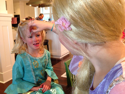 Getting a bunny face painted by the REAL Rapunzel