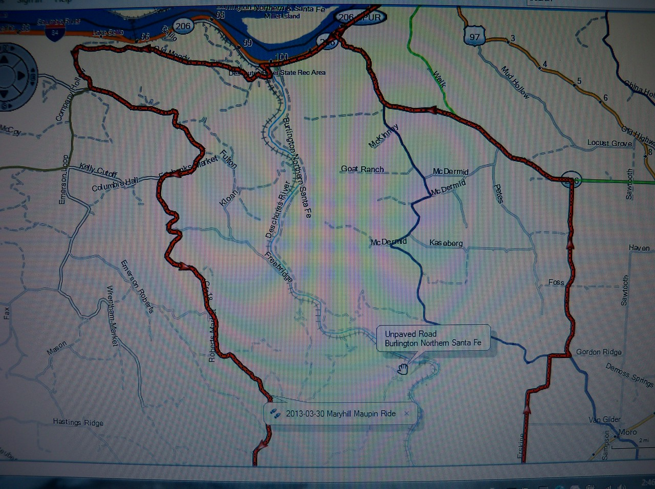 We rode Gordon Ridge a few days later... It's the dark blue route in the middle...