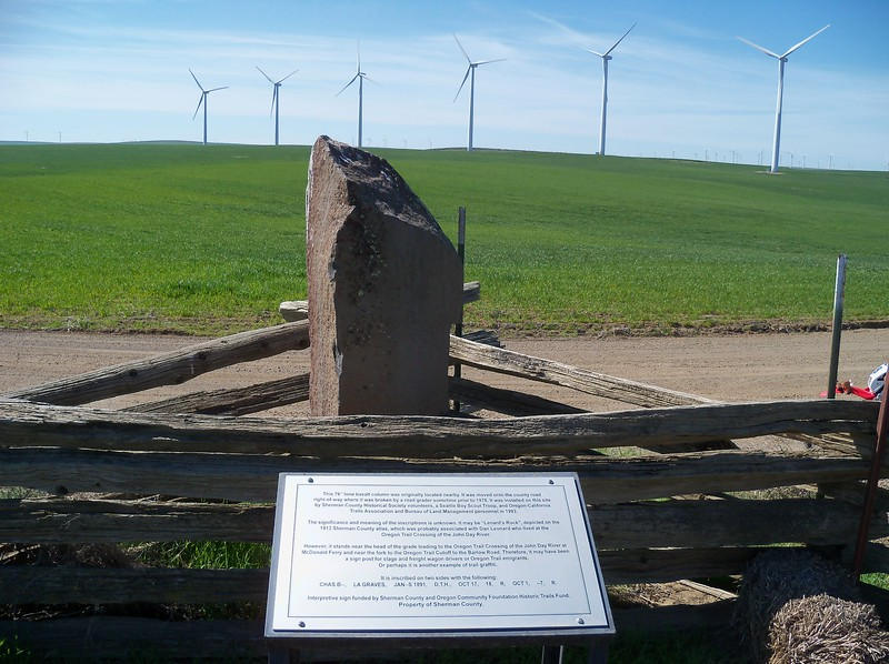 Marker on the Oregon Trail..
