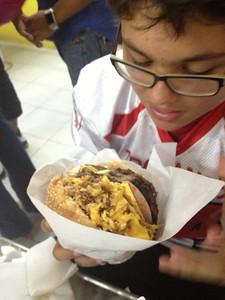 las famosas hamburguesas Venezolanas.
