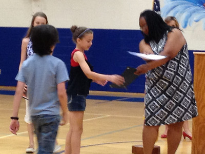 May 20 - Hailey Honored At School/Quinn Field Day