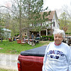 Thelma Niehaus in front of home
