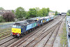 16 May 2013 :: DRS convoy of locomotives travelling from Eastleigh to Crewe approaching Oxford station 47813, 57311, 20305 and 47501