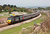 21 May 2013 :: 43304 at Dawlish Warren leading 1V50, the 0606 from Edinburgh to Plymouth