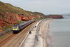 21 May 2013 :: First Great Western 1A87, the 1415 from Paignton to Paddington powered by 43196 and 43165 is seen heading towards Dawlish Warren