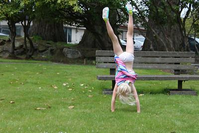 And handstands