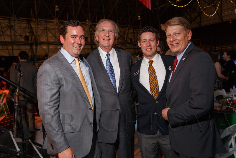 Walker Stapleton, Norm Brownstein, Justin Everett, and Mark Scheffel.  The Mizel Museum 2013 Annual Dinner Gala, Honoring Pat Bowlen, at Wings Over the Rockies Air & Space Museum in Denver, Colorado, on Wednesday, May 22, 2013.<br /> Photo Steve Peterson