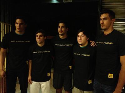 los cinco jugadores de Cancun que fueron seleccionados para irse a jugar a los Estados Unidos.