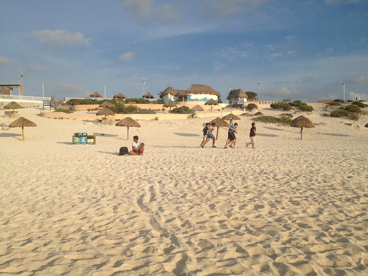 Fin de la pre temporada. Entrenamientos en la playa.