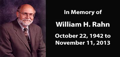 Mayor William H. Rahn - Memorial Photo and Video Album (October 22, 1942 - November 11, 2013)