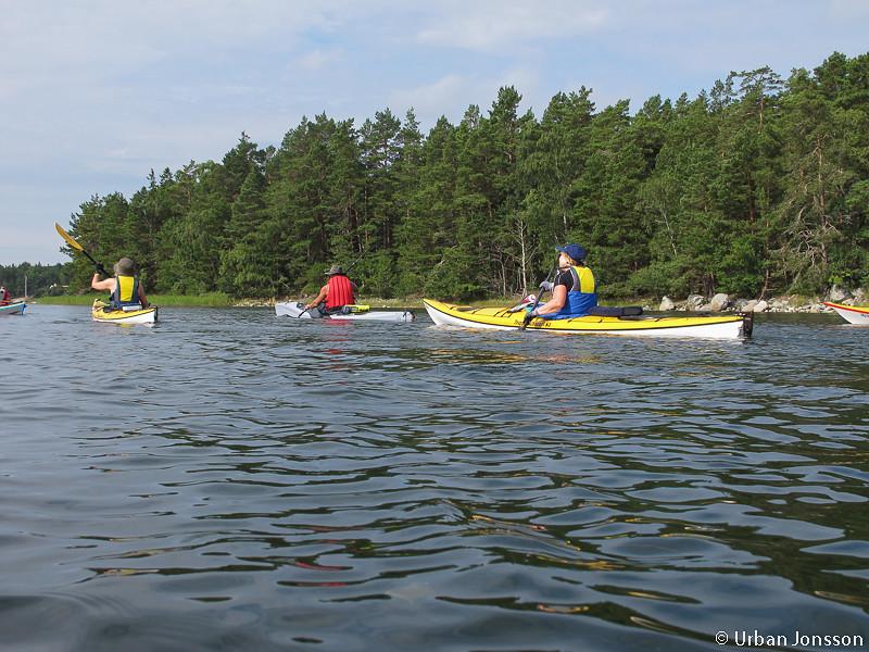 Vi paddlade västerut mot Finnhamn