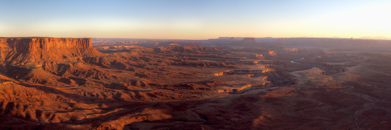 I got a chance to sneak out and watch the sun set over the Green River in Canyonlands. Quite impressive and calming.