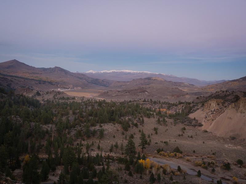 Sunset below Sonora Pass