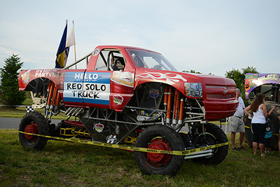 Red Solo Truck at Monster Truck Night, 2013<br /> <br /> ©Sam Feinstein