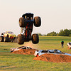 Straight up wheelies were a fan favorite at the Monster Truck races<br /> <br /> ©Sam Feinstein
