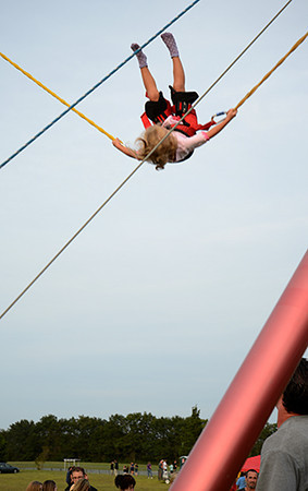 Bungee jumping before Monster Trucks<br /> <br /> ©Sam Feinstein