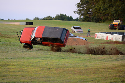 One of the Tough Trucks went through the hairpin section a little too fast<br /> <br /> ©Sam Feinstein