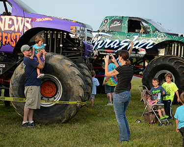 Everybody wanted to take their picture with the Monster Trucks<br /> <br /> ©Sam Feinstein